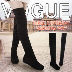 Women boots 2014 autumn winter ladies fashion flat bottom boots shoes over the knee thigh high suede long boots brand designer $29.99