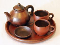 I love this tea set from Budiati Java Pottery in Indonesia.