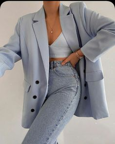 Cute Casual Outfits, Fall Outfits, Summer Outfits, Work Outfits, Fresh Outfits, Simple Outfits, Simple Dresses, Outfit Ideas Summer, Blue Outfits