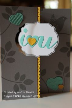 'I love you' flip card - front by andib_75 - Cards and Paper Crafts at Splitcoaststampers