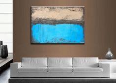 Modern Art. SALE  Singing The Blues,  SALE  Modern Abstract Art, Textured,   High End Fine Art,     36 x 24 esty