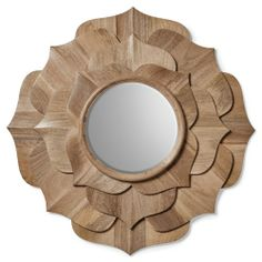 Lotus Mirror from zinc door