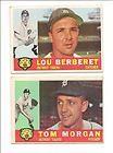 1960 Topps Baseball Cards - #6 Lou Berberet  #33 Tom Morgan -  Detroit Tigers