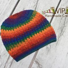 VIPHandmadeCreations Rainbow Adult Slouchy | Mad Mad Makers | https://www.etsy.com/listing/172674706/adult-slouchy-hat-ready-to-ship?