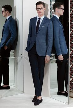 Ermenegildo Zegna Made to Measure Spring/Summer 2013 Gents Fashion, Suit Fashion, Look Fashion, Modern Gentleman, Gentleman Style, Sharp Dressed Man, Well Dressed Men, Madrid, Suit And Tie
