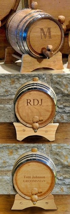 Buy Personalized Mini Oak Whiskey Barrel and other party favors and personalized gifts. Decorating Your Home, Wedding Events, Party Favors, Personalized Gifts, Whiskey Barrels, Diy Projects, Mini, Customized Gifts, Handyman Projects