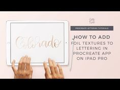 Ever wonder how to add gold foil textures to your brush lettering in Procreate? Who doesn't love gorgeous gold foil art prints?