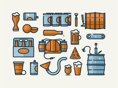 Beer Icons by Drew Ellis for NJI Media