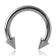 Stainless Steel Circular Barbell w/ Cones