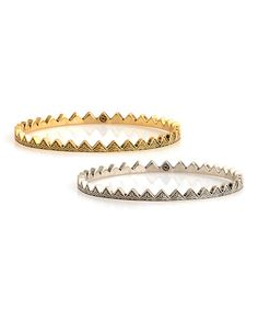 Gold & Silver Triangle Bangle Set by House of Harlow 1960