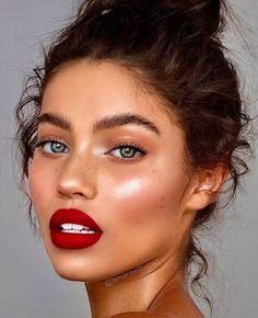 everyday makeup looks, natural makeup looks, no makeup makeup, affordable makeup. - Make up Glam Makeup, Skin Makeup, Makeup Inspo, Makeup Ideas, Red Lipstick Makeup, Makeup Light, Makeup Geek, Makeup Eyebrows, Makeup Guide