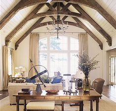 House, 1920s Interior Design, Craftsman Bungalows, Timber Framing, Lake House, Wooden Ceiling Design, Farmhouse Kitchen Remodel, Vogue Home, Rustic House