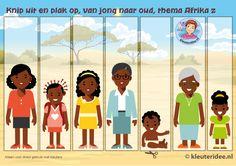 Van jong naar oud, kleuteridee, Kindergarten math girl young, old older, free printable.