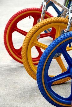 Colorful BMX Bikes. For more great pics, follow bikeengines.com