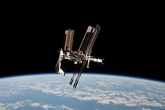 space shuttle docked with space station