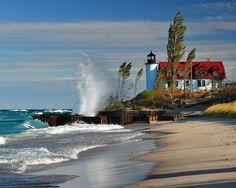 Point Betsie Lighthouse - Crystallia, Michigan.