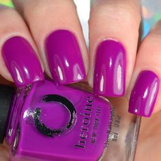 Neon Purple Nail Polish - Touch Me Not | heroine.nyc