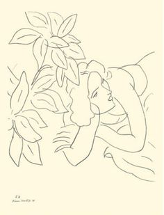 "Henri Matisse ""Temas y variaciones"" - Portrait Line Drawing Henri Matisse, Matisse Drawing, Matisse Paintings, Matisse Tattoo, Matisse Art, Life Drawing, Painting & Drawing, Painting Lessons, Matisse Pinturas"