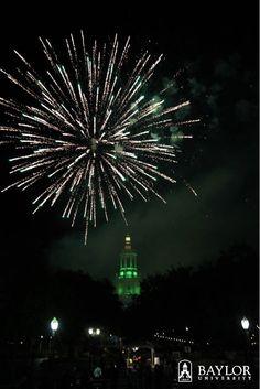 Fireworks at #Baylor! (Pat Neff Hall at Homecoming 2011)