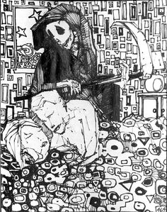 Zak Smith from the Gravity's Rainbow illustrations. Gravity's Rainbow, Death Becomes Her, Lamentations, Creative Inspiration, Script, Cool Art, Literature, Composition, Sketches