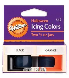 Wilton 1/2 oz. Halloween Icing Colors-2PK/Black & Orange