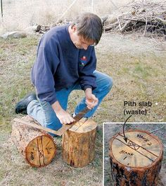 Woodworking Training If a tree falls in the forest (or your neighborhood), can you salvage it for turning stock? Here we'll show you how to make quality bowl blanks from a promising log. Wood Turning Lathe, Wood Lathe, Lathe Tools, Small Wood Projects, Wood Turning Projects, Bowl Turning, Lathe Projects, Raw Wood, Wood Bowls