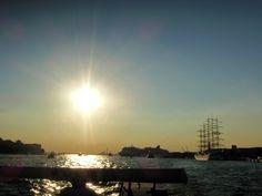 Iron vessel in the sun