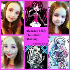 Easy Halloween Makeup for Kids: Monster High Makeup