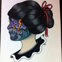 #traditional #tattoo #girl