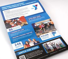 Award-winning not for profit direct mail design for the YMCA of Montclair in NJ.