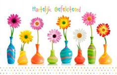 Colorful Flowers In Vases Picture. Colorful flowers in bright vases on white. Bright Flowers, Spring Flowers, Daisy Flowers, Purple Flowers Wallpaper, Wedding Decorations On A Budget, Wedding Ideas, Spring Pictures, Gerber Daisies, Vintage Vases