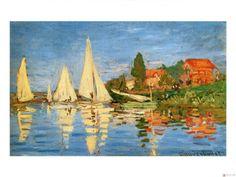 Claude Monet The Regatta at Argentuil