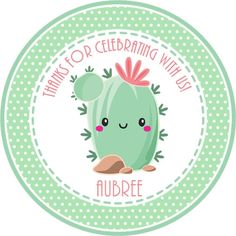 Cactus Succulent Party Stickers or Favor Tags, Cactus Succulent Birthday Party Decorations Birthday Party Favors, Birthday Party Decorations, Birthday Parties, Gift Subscription Boxes, Classroom Crafts, Camping Gifts, Favor Tags, Sticker Paper, Card Stock