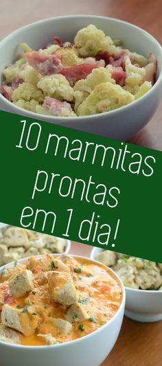 Aprenda preparar a marmita da família toda em 1 dia! !0 marmitas prontas para a semana e dicas de como montar sua lista de compras, combinações de receitas e dicas de congelamento