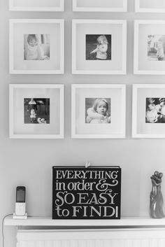 Gallery wall using 3M Medium Command Strips and Ikea RIBBA frames