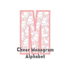 Cheer Monogram Alphabet SVG Cutting Files by JustinasaurCreations Cheerleading files for cricut explore silhouette cameo DE monograms for shirts pillows vinyl, whatever your cheerleading needs are.