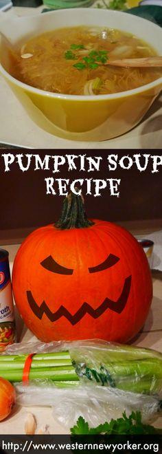 Pumpkin Soup Recipe http://www.westernnewyorker.org/2014/10/pumpkin-soup-recipe.html #Halloween #Soup