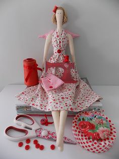 Tilda parade!  I love this doll!  This site has lots of examples.