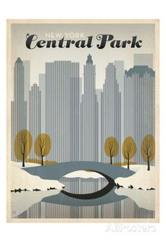 New York Central Park Print by Anderson Design Group at AllPosters.com
