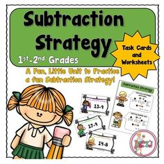 Subtraction Strategy Unit introduces a fun way to subtract without using fingers. This unit is perfect for beginning students who are learning or struggling with subtracting. (1st-2nd Grade) $