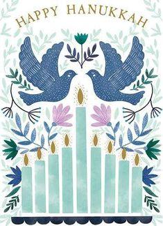 Happy Hanukkah Images, Hanukkah Pictures, Happy Hannukah, Hanukkah Crafts, Hanukkah Candles, Shabbat Shalom Images, Painted Christmas Cards, Arte Judaica, Peace Art