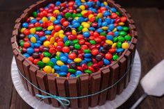 M&M's Kit Kat Cake