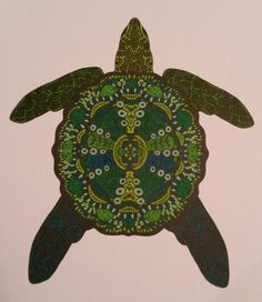 Mindfull kleuren Schildpad