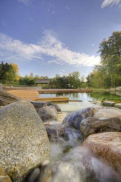 BIOTOP natural pool in Munich swimming pond stone rock