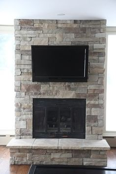 Ledge Stone Fireplace Album 3 - traditional - family room - chicago - North Star Stone