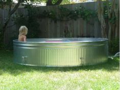 I have some thoughts about the backyard pool idea. First off, here is the pool the condo association is considering getting from Target: It's nice. However. I have an alternative idea that mi…