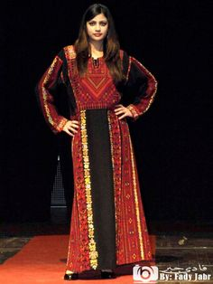 Bisaan thob. Each region in Palestine had a distinct style of traditional dress, called a thob. (rhymes with robe, not knob!) This image is from an album here https://www.facebook.com/media/set/?set=a.117417781675536.28969.117391495011498=3