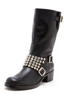$95 BCBGeneration Halen Stud Flat Boot by Last Chance Boots on @HauteLook