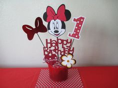 Minnie Mouse Centerpiece Toppers on Etsy, $13.50