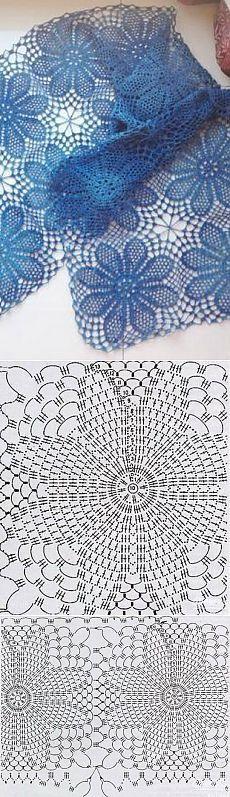 Calados bufanda crochet